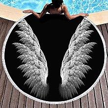 Rtisandu Beach Towels Round Angel Wings Cheap Hand