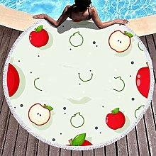 Rtisandu Beach Towels Round Apple Fruits Cheap