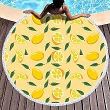 Rtisandu Beach Towels Round Lemon Fruits Cheap