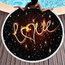 Rtisandu Beach Towels Round Love Heart Cheap Hand