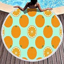Rtisandu Beach Towels Round Orange Fruits Cheap
