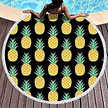 Rtisandu Beach Towels Round Pineapple Fruits Cheap