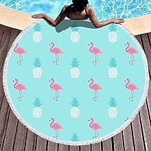 Rtisandu Beach Towels Round Pineapple Fruits