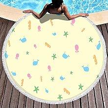 Rtisandu Beach Towels Round Starfish Shell Sea