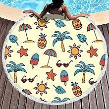 Rtisandu Beach Towels Round Starfish Sun Palm Ise