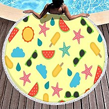 Rtisandu Beach Towels Round Starfish Sun Palm