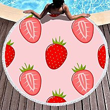 Rtisandu Beach Towels Round Strawberry Fruits