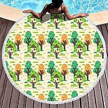Rtisandu Beach Towels Round Tree Leaf Plants Cheap
