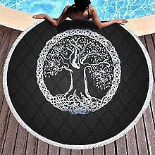 Rtisandu Beach Towels Round Tree of Life Cheap