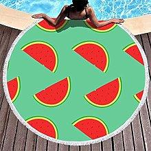 Rtisandu Beach Towels Round Watermelon Fruits