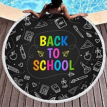 Rtisandu Beach Towels Round Welcome Back to School