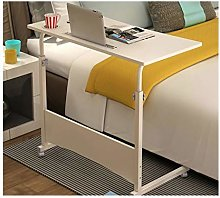RTYU Adjustable Height Table Mobile Laptop Desk,