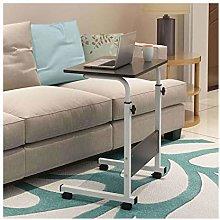 RTYU Height Adjustable Laptop Desk With Wheels,