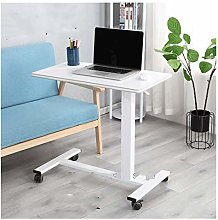 RTYU Laptop Desk Mobile Table With Wheel Side