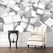 RTYUIHN 3D Wallpaper Mural Abstract White