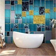RTYUIHN 3D Wallpaper Mural Wallpaper Modern Blue