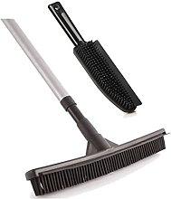 Rubber Broom Brush Set Pet Hair Remover Lint Hand