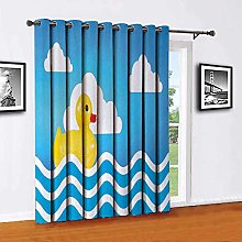 Rubber Duck Shading insulated curtain Yellow Cute