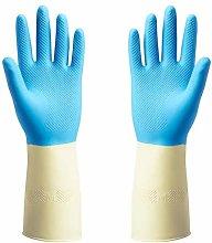 Rubber Gloves, Blue, 315 mm+(Pen Free)