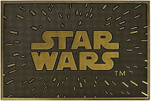 Rubber Logo Door Mat (One Size) (Gold/Black) -