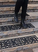 """Rubber Stair Treads Non-Slip Outdoor 35""""x10"""""""