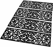 Rubber Stair Treads - Set of 4   M&W - Black