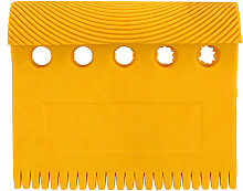 Rubber Wood Grain Pattern Tool Five Holes Yellow