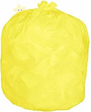 Rubbish Waste Bin Liners Yellow Coloured Sacks