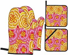 RUBEITA Oven Mitts and Pot Holders Sets of