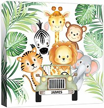 Rubybloom Designs Jungle Animals Safari Jeep -