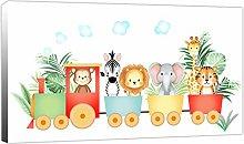 Rubybloom Designs Personalised Jungle Animal Train