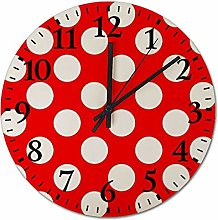 RubyBut44 Wood Clocks 12'' Round Wooden