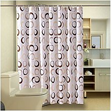 Rubyia 2M Shower Curtain, Round 3D Printed Pattern