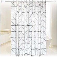 Rubyia Bathroom Shower Curtains, Lattice Printed