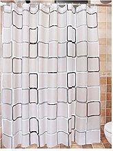 Rubyia Curved Shower Curtain, Lattice Printed