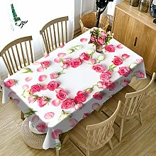 Rubyia Table Clothes Rectangular Wipe Clean,