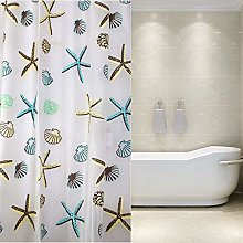 Rubyia Weighted Shower Curtains, Starfish Printed
