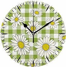 Ruchen Silent Tabletop Wall Clock Daisy Camomile