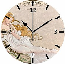 Ruchen Silent Wall Clock Non Ticking Elegant