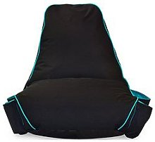 rucomfy Kids Gaming Beanbag Chair, Black/Blue