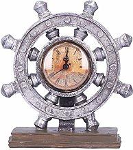 Rudder Clock, Resin Simple Portable Resin