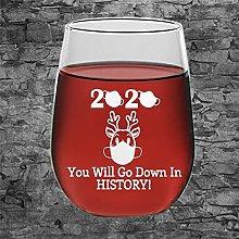 Rudolph Reindeer Crystal Stemless Wine