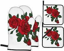 RUEMAT Oven Mitts and Pot Holders 4pcs