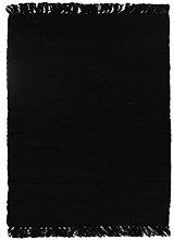 Rug, 120 cm x 170 cm, Black
