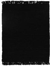 Rug, 150 cm x 200 cm, Black