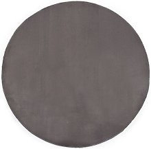 Rug 80 cm Faux Rabbit Fur Dark Grey VD25390 -