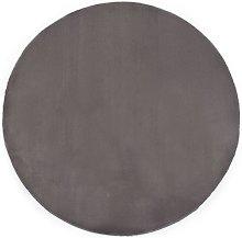 Rug 80 cm Faux Rabbit Fur Dark Grey