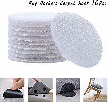 Rug Anchors Carpet Non-Slip Hook and Loop,Round