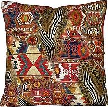 Rug Animal Skin Pattern Cotton Fabric Cushion