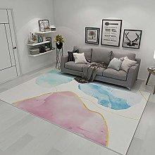 Rug bedroom carpet Pink blue minimalist graffiti